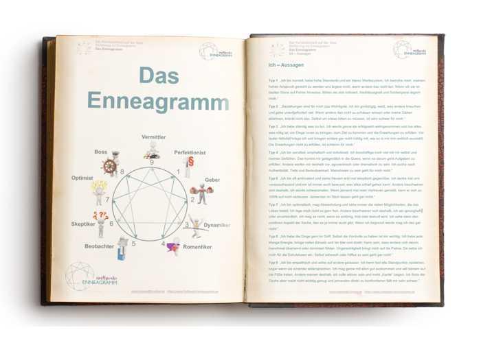 Ein Enneagrammbuch zu lesen ist eine Möglichkeit, den Enneagrammtyp herauszufinden.
